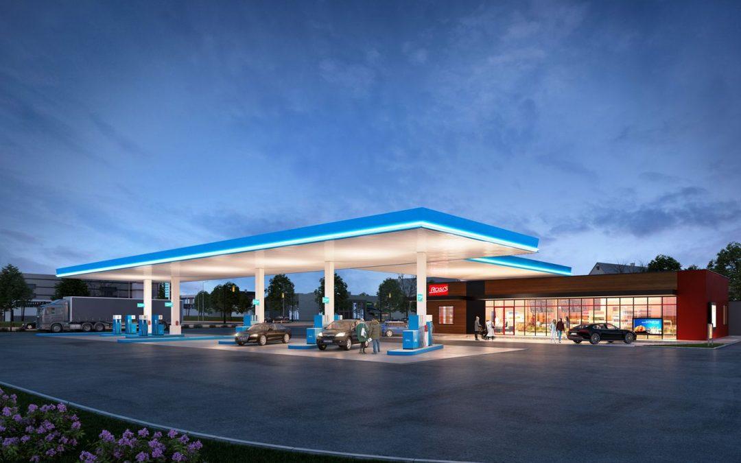 Übergabe Lkw-freundliche Tankstelle mit Shop und Restaurant