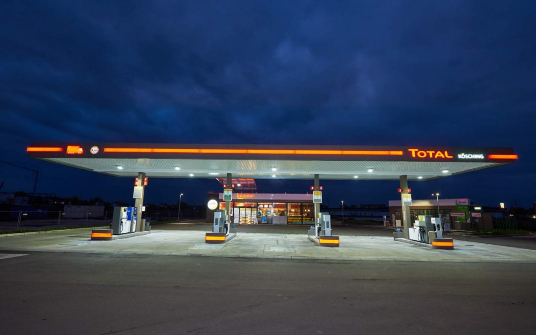 Total-Tankstelle in Kösching