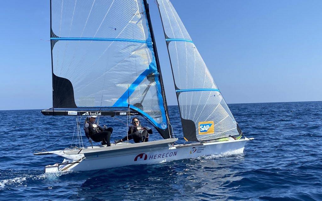 HERECON als Hauptsponsoring-Partner des Olympia-Segelteams Lutz und Beucke