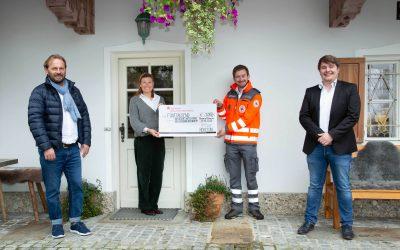 Großzügige Spende der Firma HERECON aus Bernau für die Bereitschaft Prien